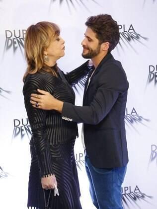 Glória Perez e Bruno Gagliasso