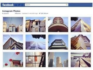 Fotos do Instagram são publicadas em um álbum especial do Facebook