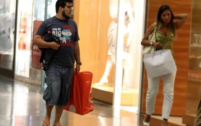 André Marques em shopping center no Rio nesta sexta-feira (24)