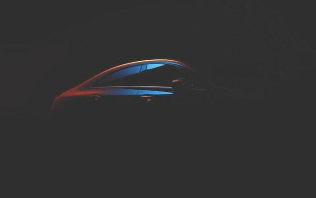 Mercedes CLA: teaser divulgado pela fabricante revela apenas o perfil que lembra o de um cupê compacto