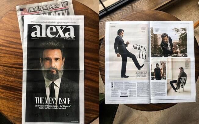 Rodrigo Santoro é comparado ao Brad Pitt por jornal norte-americano