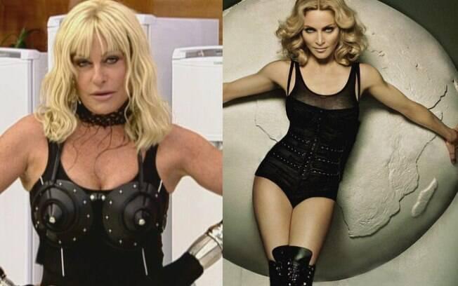Ana Maria Braga se fantasiou de Madonna