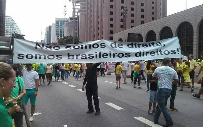 Manifestação em São Paulo neste domingo (15). Foto: David Shalom/iG São Paulo