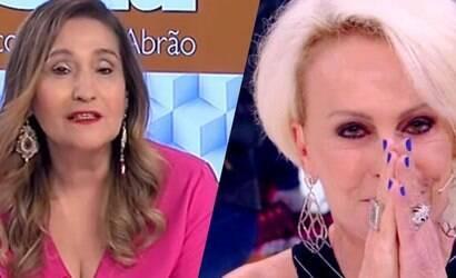 Ana Maria surge sem aliança e Sonia Abrão comenta