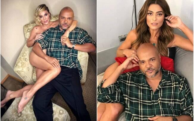 Ale de Souza com Flávia Alessandra e Juliana Paes
