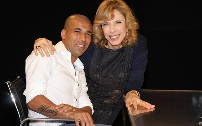 Emerson Sheik com Marília Gabriela