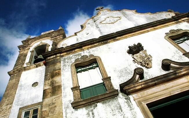 Fachada da Igreja de Nossa Senhora da Misericórdia, em Olinda, Pernambuco