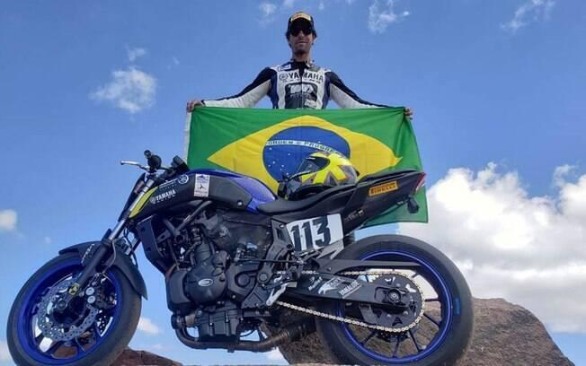 Rafael Paschoalin conseguiu a 1ª colocação na categoria da Yamaha MT-07 e 8º na classificação geral das motos