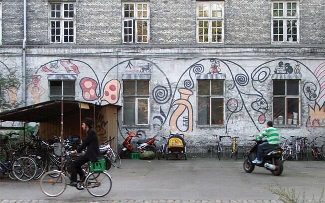 Christiania é uma comunidade autônoma perto do centro de Copenhagen