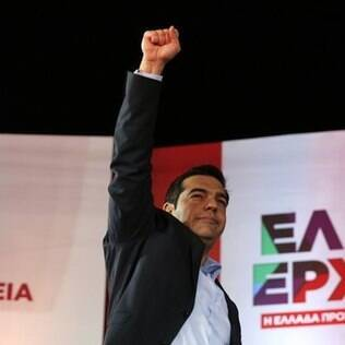Alexis Tsipras, do partido de esquerda radical grego Syriza