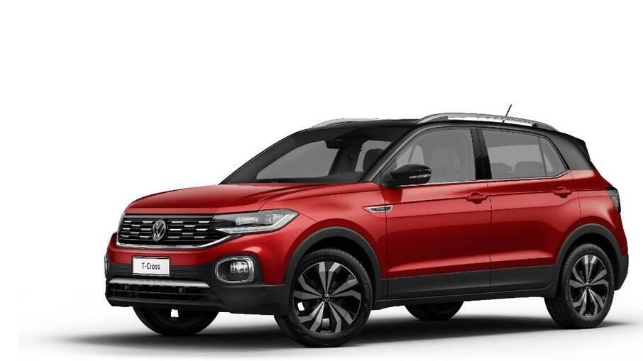 VW T-Cross 2022 também passa a ser oferecido na cor Vermelho Sunset, a mesma do Nivus, entre as novidades