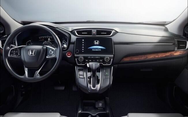 Painel do Honda CR-V híbrido que poderá chegar ao Brasil a partir do ano que vem