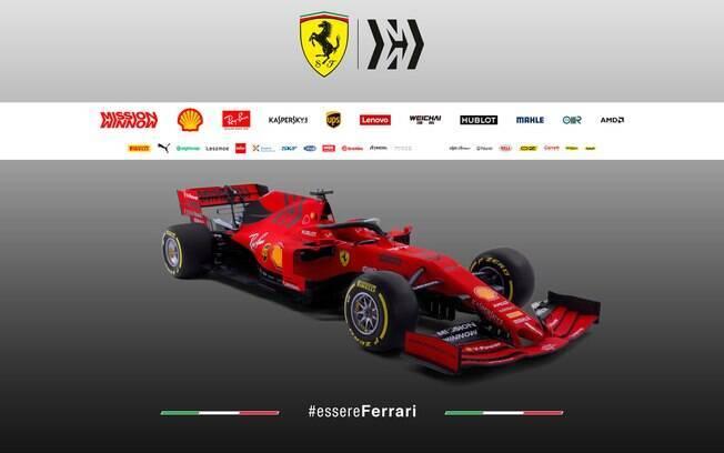 O SF90 é a novidade da Ferrari para a temporada 2019 da Fórmula 1