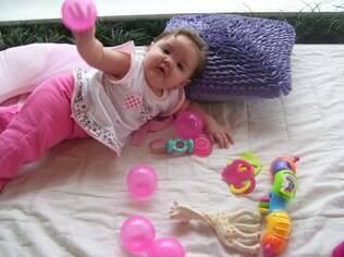 A mãe de Nicole, de seis meses, começou a estimular a filha quando estava grávida