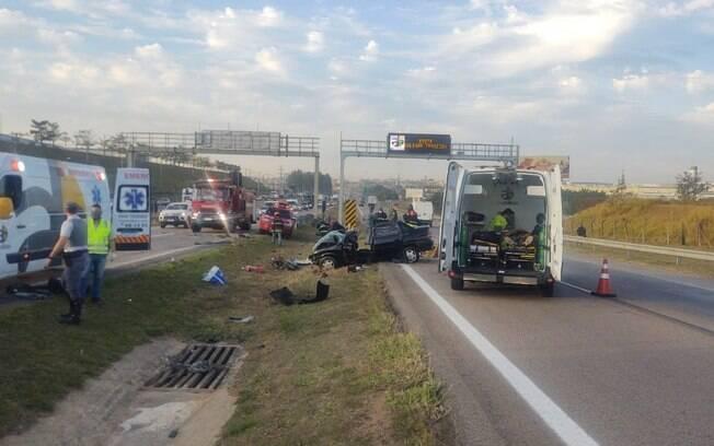 Acidente deixa um morto e três feridos em rodovia de Indaiatuba