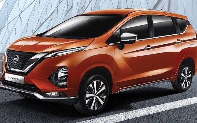 Nissan Livina da nova geração é praticamente igual ao modelo Mitsubishi XPander MPV, salvo a grade frontal