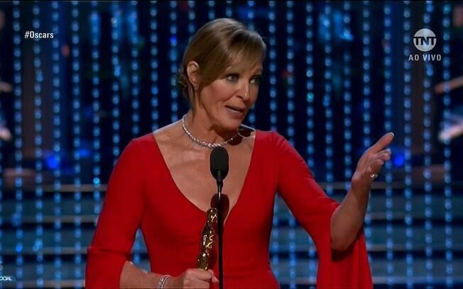 Allison Janney durante seu discurso de agradecimento no Oscar 2018