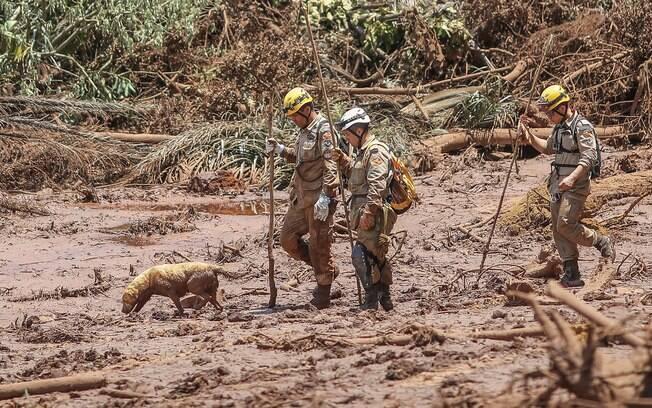Equipes de resgate trabalha em Brumadinho, em Minas Gerais, desde a última sexta-feira