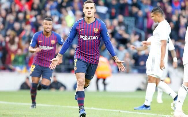 Barcelona goleou o Real Madrid e Philippe Coutinho deixou sua marca