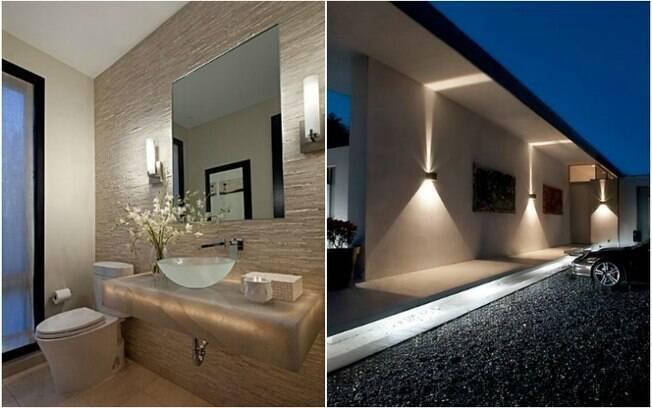 Em um apartamento pequeno, o ideal é usar luzes nas paredes ou embutidas no teto, de forma indireta