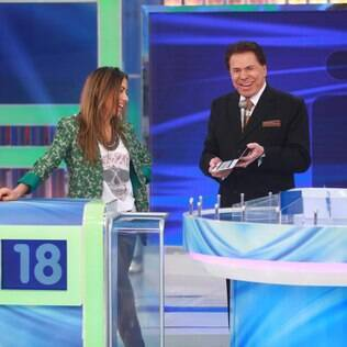 Patrícia Abravanel fica com ciúmes do pai durante programa