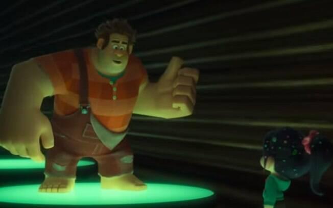 Vanellope von Schweetz  e Ralph em cena da animação