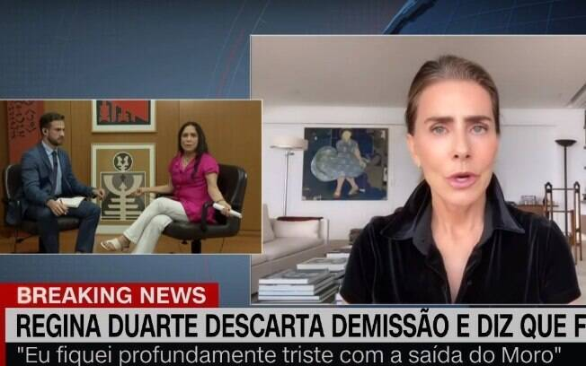 Regina Duarte fica incomodada com vídeo de Maitê Proença