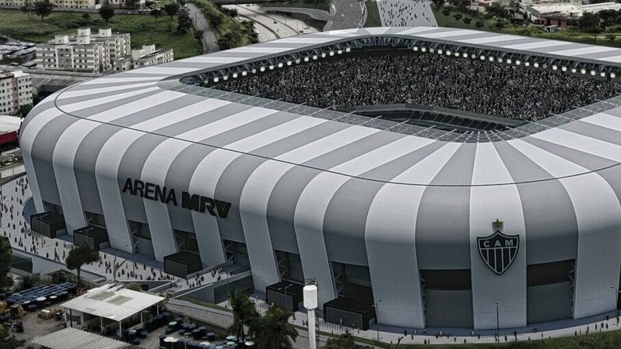 Projeção de como ficará o estádio do Atlético-MG