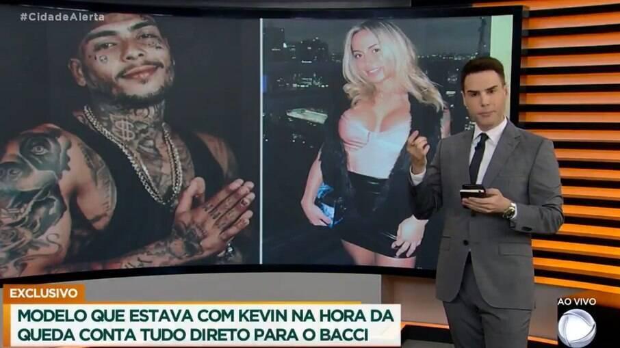 Luiz Bacci briga com modelo