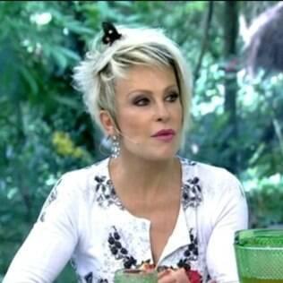 Ana Maria Braga é surpreendida ao vivo por borboleta