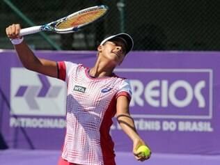 Teliana Pereira foi eliminada na segunda rodada e não conseguiu repetir a boa campanha feita no Rio Open