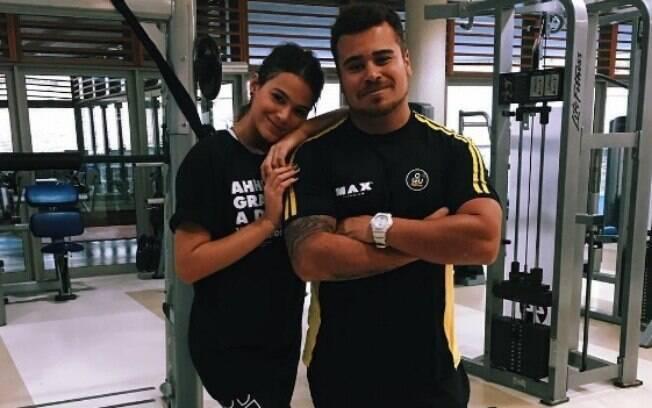 Bruna Marquezine com personal trainer Bruno d'Orleans