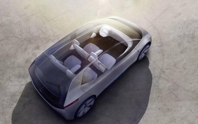 Posicionar o motor no eixo traseiro e as baterias no assoalho permite que o carro elétrico da Volkswagen tenha o espaço interno do Passat.