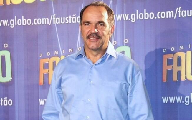Humberto Martins durante a gravação do