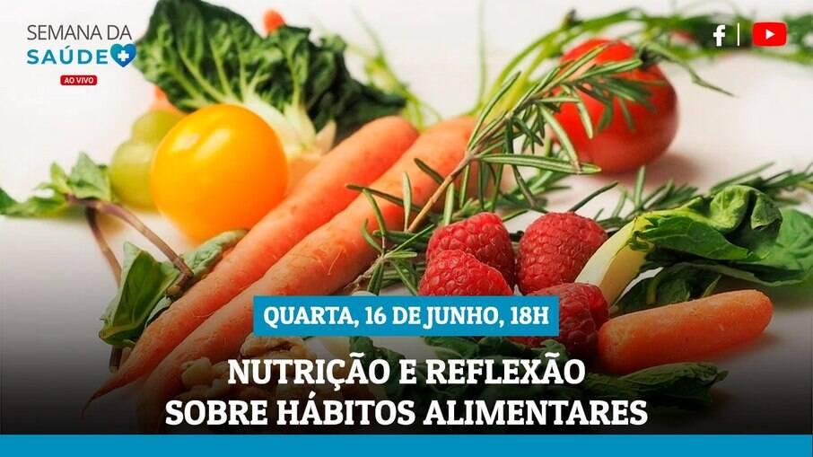 Semana da Saúde: live terá nutrição e como tema nesta quarta-feira (16))