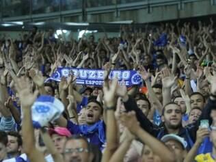 Torcida encheu o Mineirão para incentivar o time neste momento decisivo da temporada