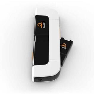 O medidor Dario pode ser acoplado ao iPhone para transmitir dados ao aplicativo de gerenciamento da diabetes baseado na nuvem