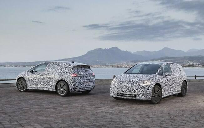 A VW mostra algumas imagens do novo hatchback elétrico, que não esteve no Salão de Detroit 2019