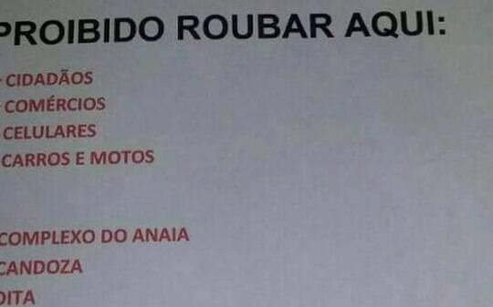 Cartaz anticrime é atribuído ao Comando Vermelho - Brasil - iG