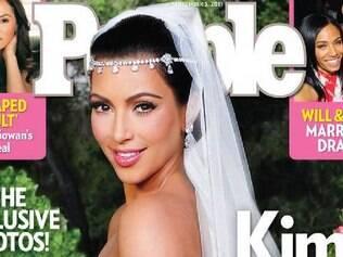 O casamento de Kim Kardashian foi capa da