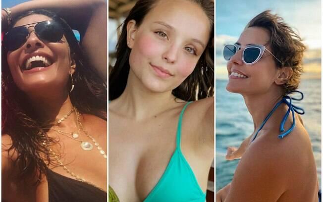 Juliana Paes, Larissa Manoela, Deborah Secco e outras famosas que curtem domingo (13) de sol