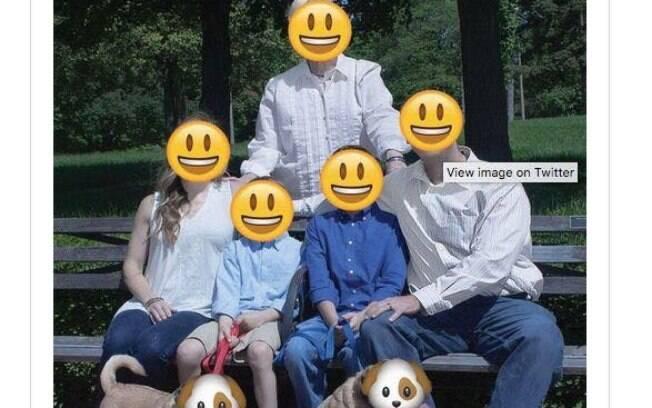O rosto deles foi até substituído por emojis, nem os cachorrinhos escaparam da zoação