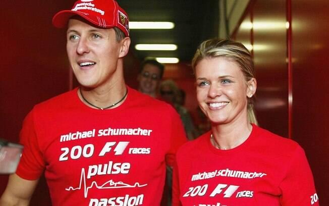 Michael Schumacher e sua mulher Corinna