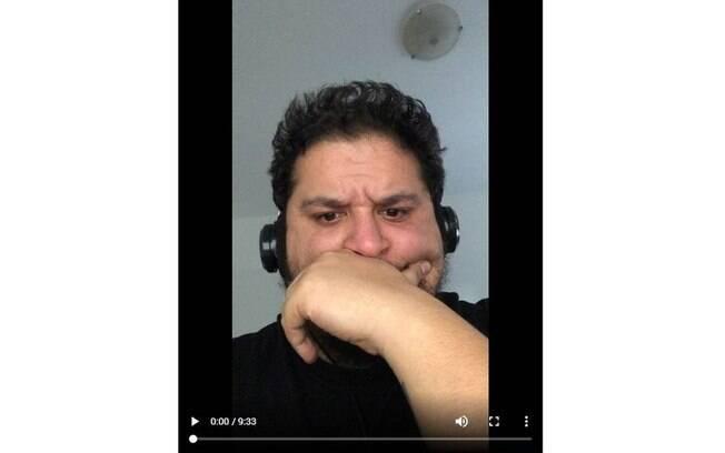 Cesar Acosta publicou um vídeo no Instagram intitulado