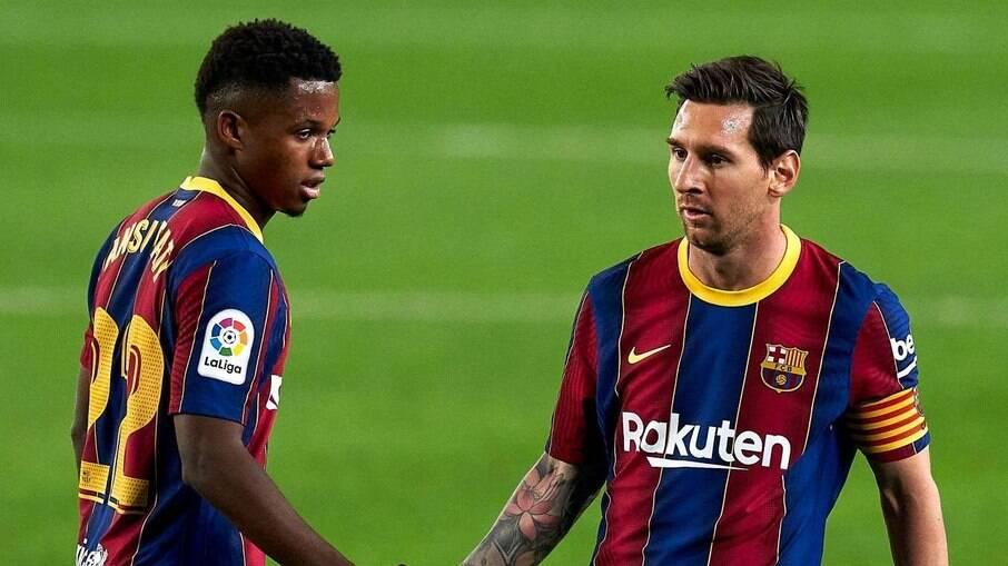 Ansu Fati herdou camisa 10 de Messi