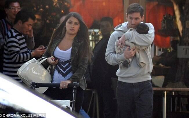 Fora de campo, Messi também comemorou em  2012. Em novembro nasceu Thiago, seu primeiro  filho