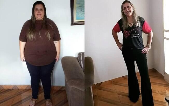 Waléria notou que emagrecer rápido é possível mudando o estilo de vida e adotando hábitos saudáveis