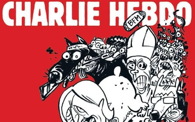 Charlie Hebdo volta nesta quarta-feira com papa na capa
