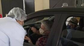 Cidade de São Paulo abre sete novos drive-thrus de vacinação