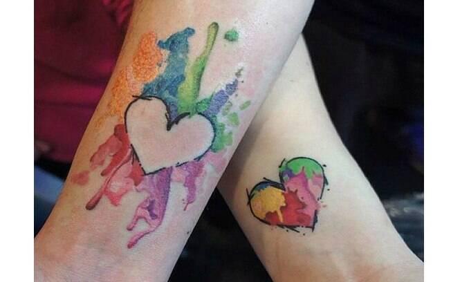 Sua tatuagem pode complementar a do seu namorado - uma linda prova de amor
